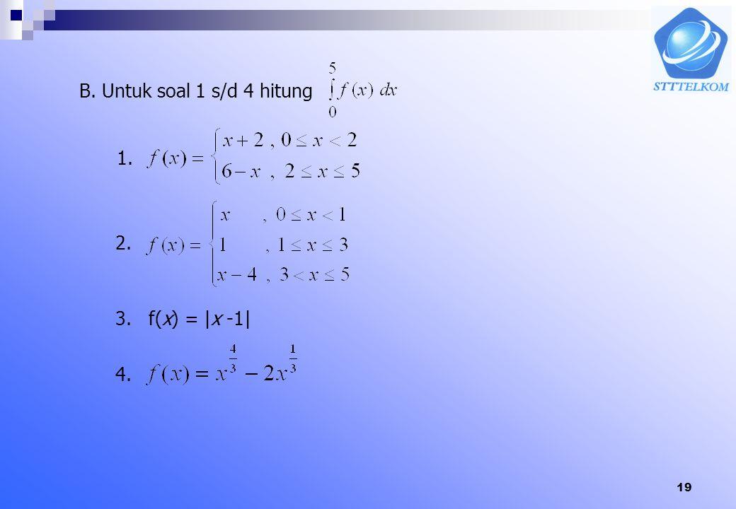 18. Contoh Hitung G'(x) dari a. b. Jawab a. b.