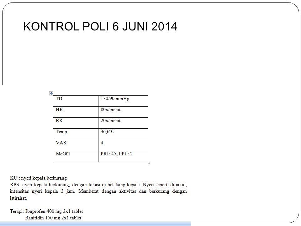 KONTROL POLI 6 JUNI 2014