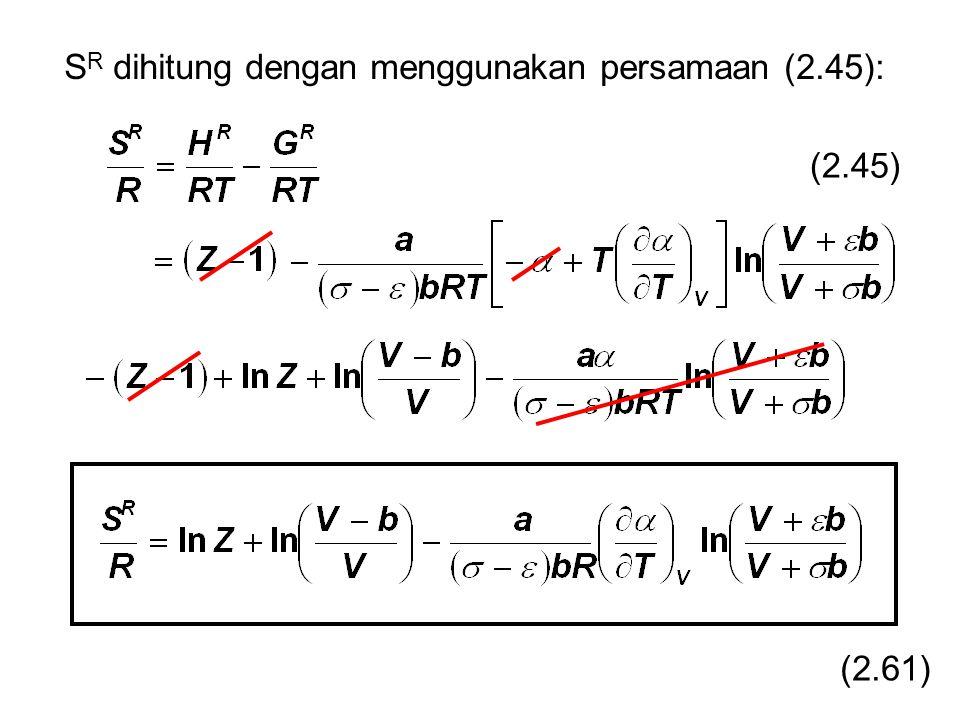 (2.45) S R dihitung dengan menggunakan persamaan (2.45): (2.61)