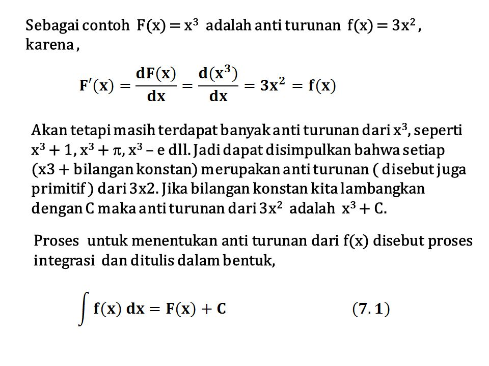 Contoh 7.13 Penyelesaian Misal u = sinx  du = cosx dx