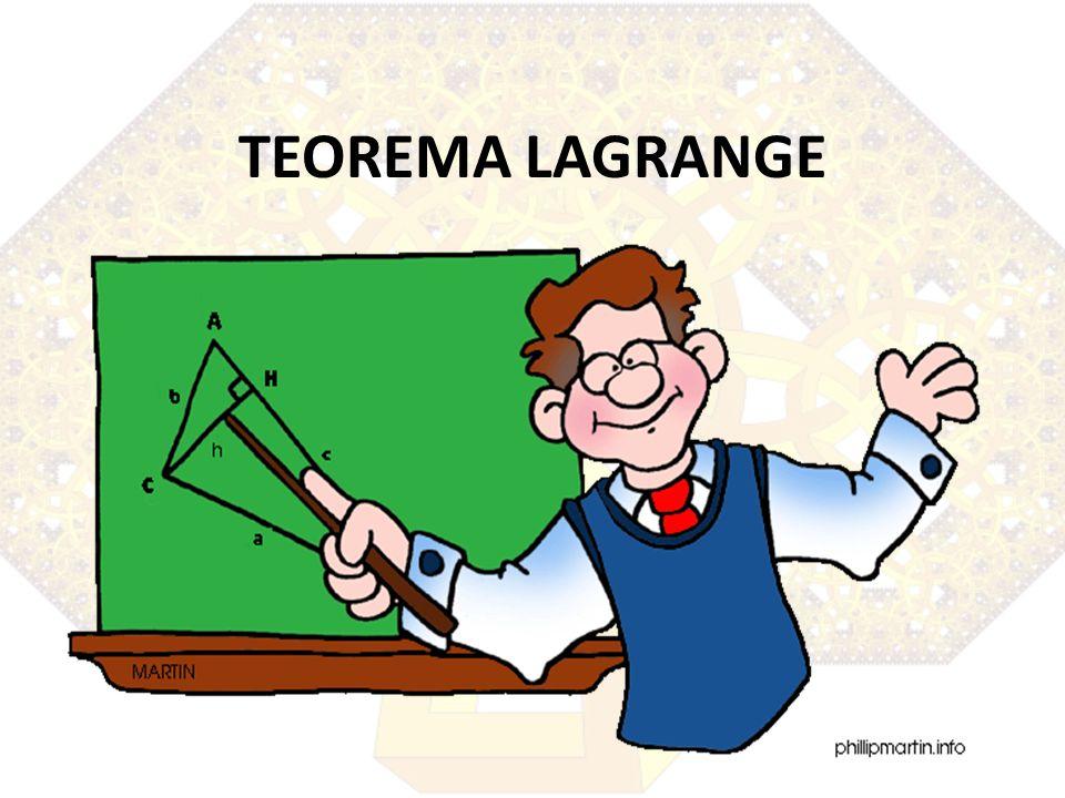 TEOREMA LAGRANGE