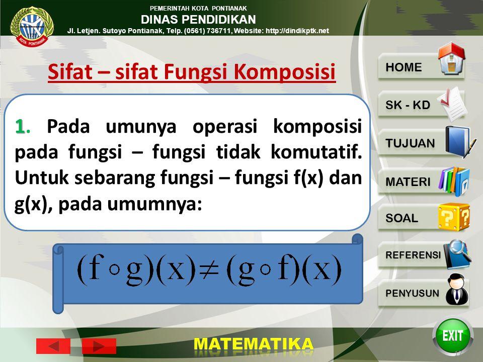 PEMERINTAH KOTA PONTIANAK DINAS PENDIDIKAN Jl. Letjen. Sutoyo Pontianak, Telp. (0561) 736711, Website: http://dindikptk.net 16 Penyelesaian :