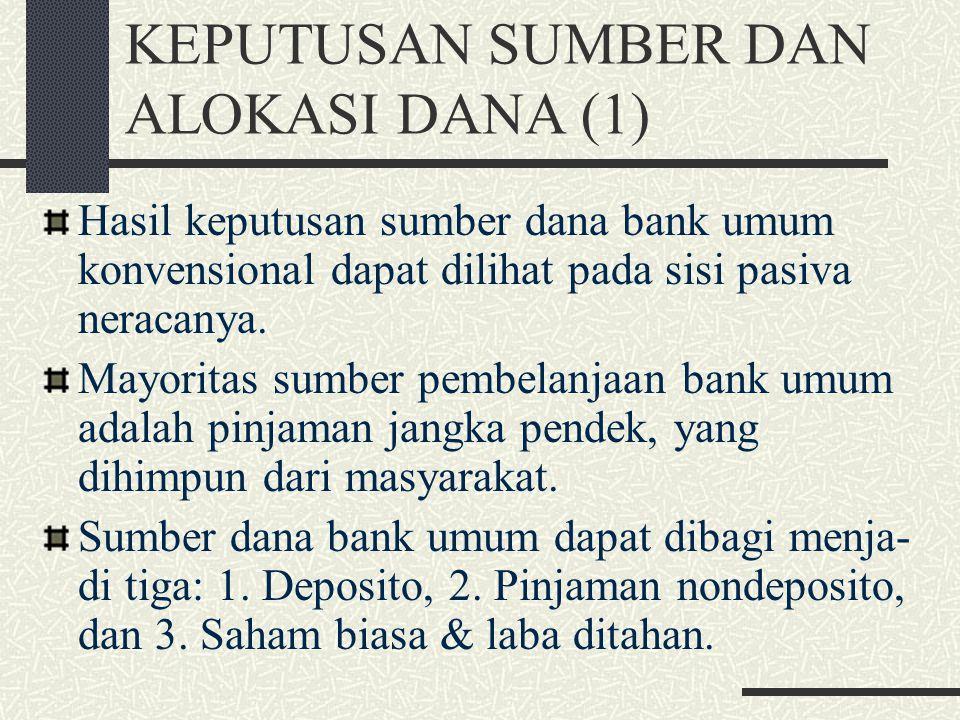 KLASIFIKASI BANK (7) 2. Bank syariah: bank yang penentuan harganya tidak menetapkan suatu tingkat bunga tertentu tetapi didasarkan pada prinsip2 syari
