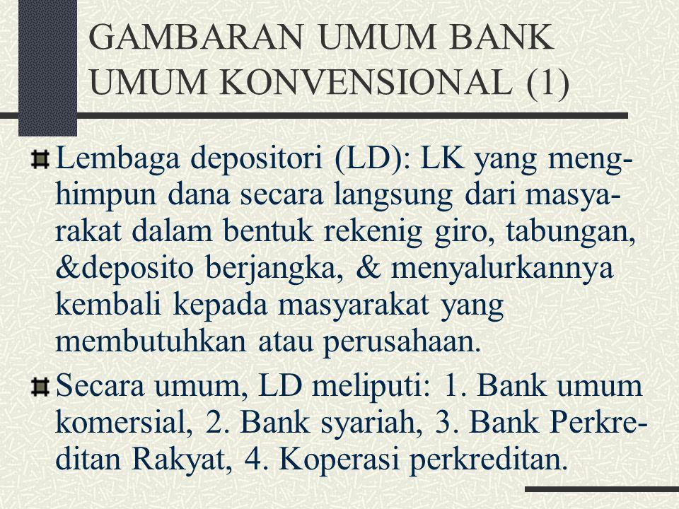 III. BANK UMUM KONVENSIONAL GAMBARAN UMUM BANK UMUM KONVENSIONAL KLASIFIKASI BANK KEPUTUSAN SUMBER & ALOKASI DANA SUMBER PENDAPATAN & BIAYA KONDISI UM