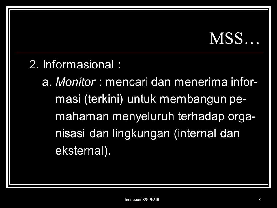 Indrawani.S/SPK/106 MSS… 2. Informasional : a.