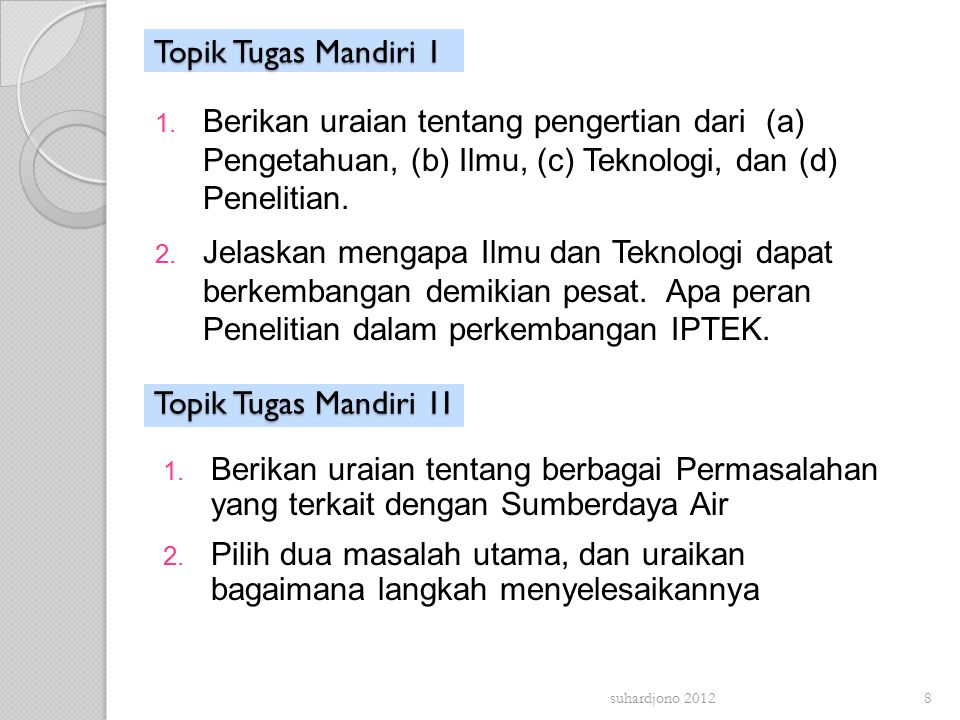 Topik Tugas Mandiri 1 1.