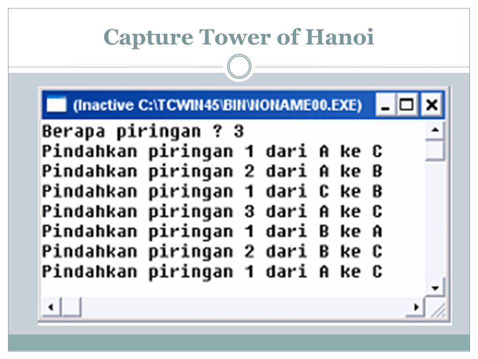 Capture Tower of Hanoi