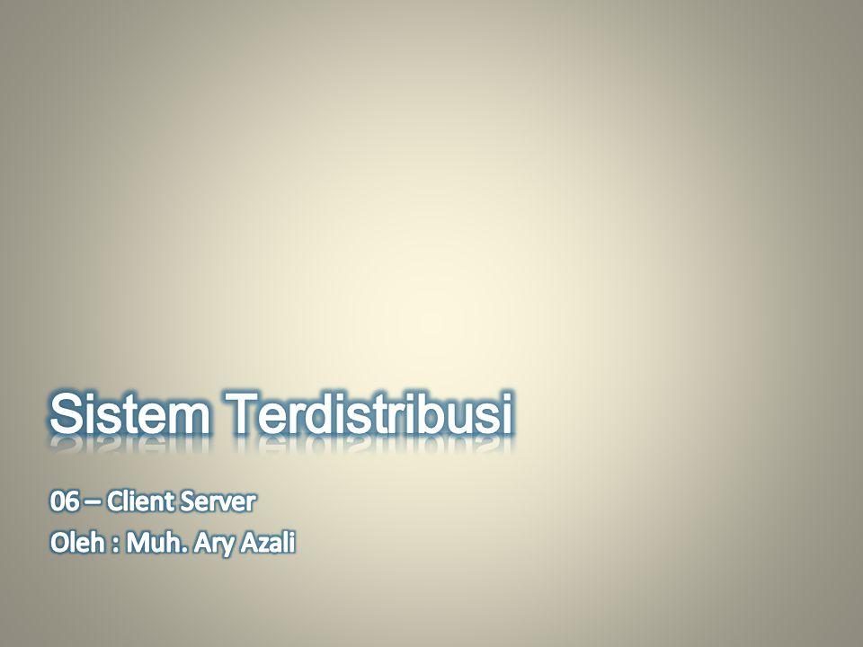 Server adalah komputer yang dapat memberikan service ke client, sedangkan client adalah komputer yang mengakses beberapa service yang ada di server.