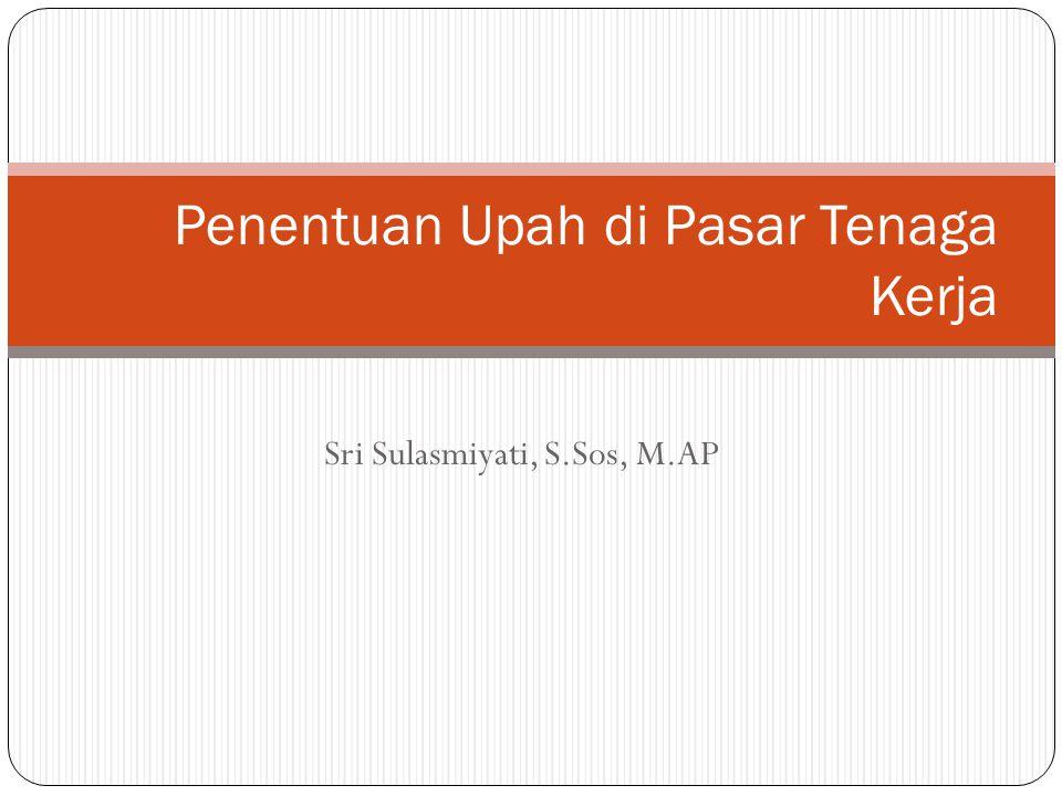 Sri Sulasmiyati, S.Sos, M.AP Penentuan Upah di Pasar Tenaga Kerja