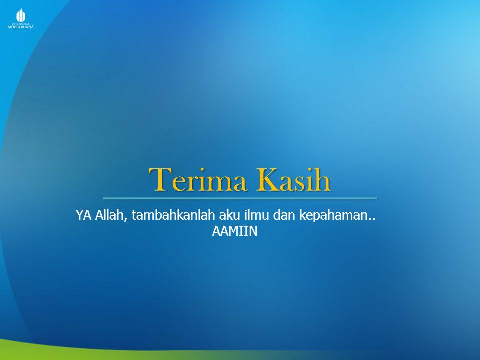 Terima Kasih YA Allah, tambahkanlah aku ilmu dan kepahaman.. AAMIIN
