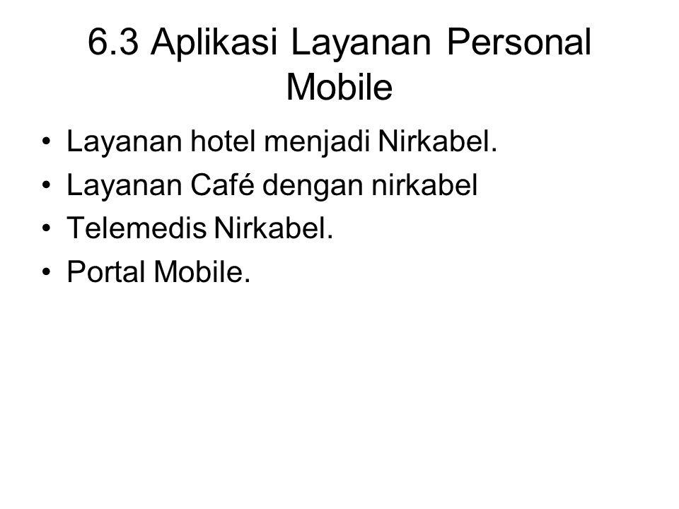 6.3 Aplikasi Layanan Personal Mobile Layanan hotel menjadi Nirkabel.