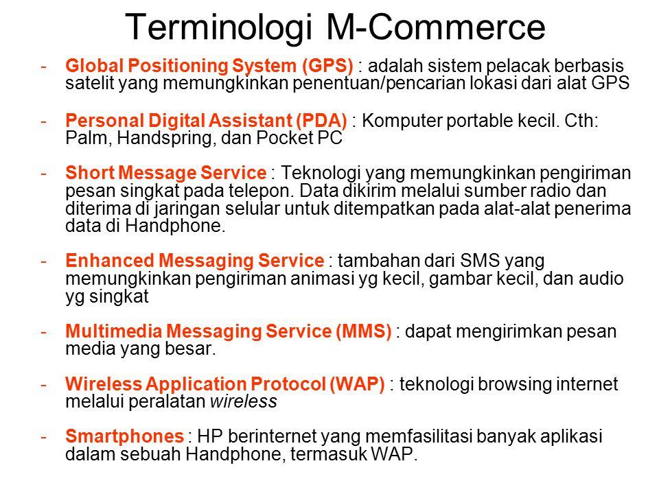 Karakteristik dan Keunggulan M- Commerce Karakteristik M-Commerce: 1.Mobility Fakta bahwa ponsel itu portabel dan user selalu membawa ponsel atau sejenisnya kemanapun mereka pergi.
