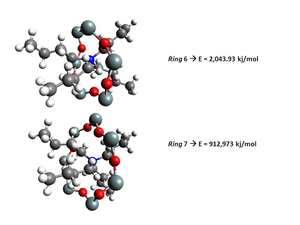 Ring 6  E = 2,043.93 kj/mol Ring 7  E = 912,973 kj/mol