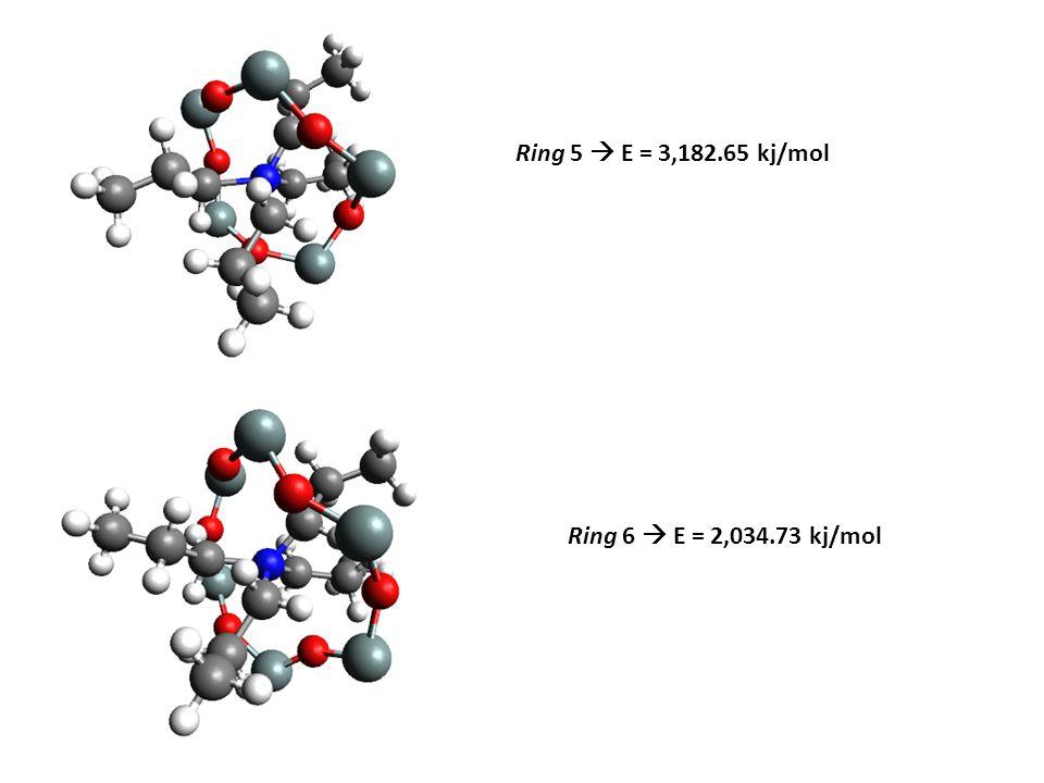Ring 5  E = 3,182.65 kj/mol Ring 6  E = 2,034.73 kj/mol