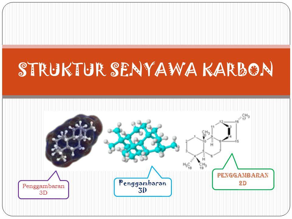 Senyawa Karbon Adalah senyawa yang molekulnya mengandung atom- atom karbon dan atom-atom unsur lain seperti hidrogen, oksigen, nitrogen, belerang, dan halogen.