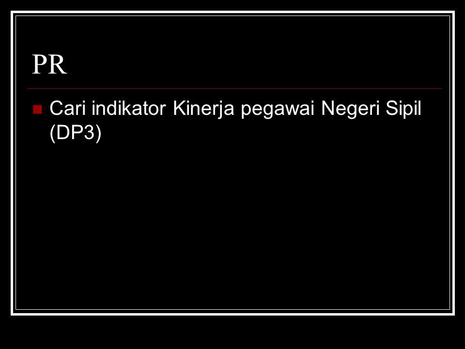 PR Cari indikator Kinerja pegawai Negeri Sipil (DP3)