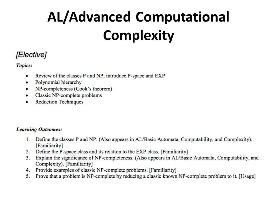 AL/Advanced Computational Complexity