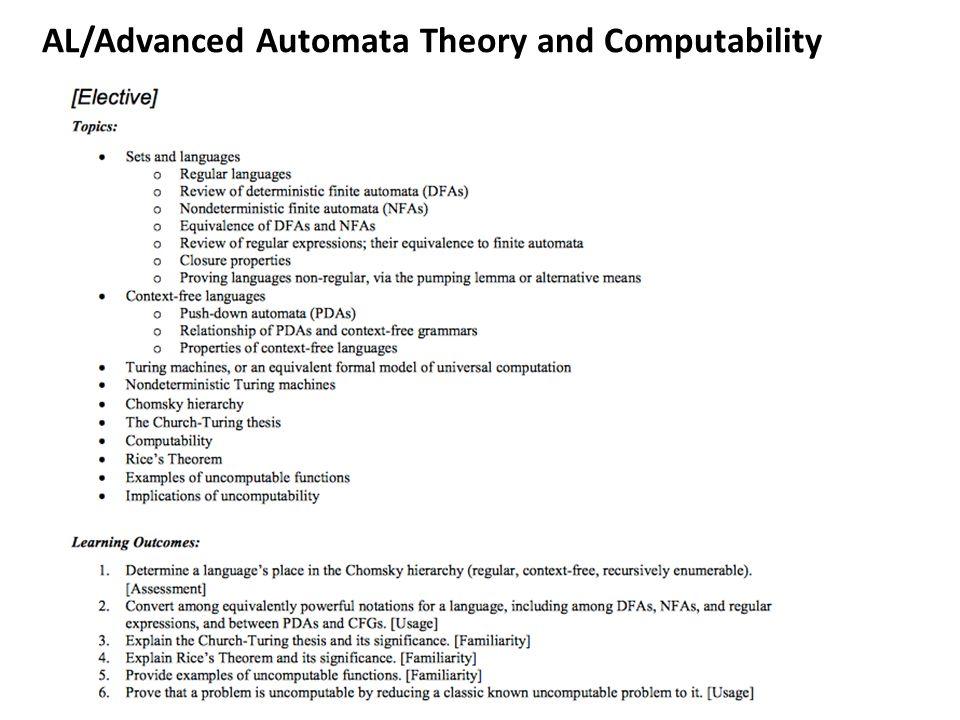AL/Advanced Automata Theory and Computability