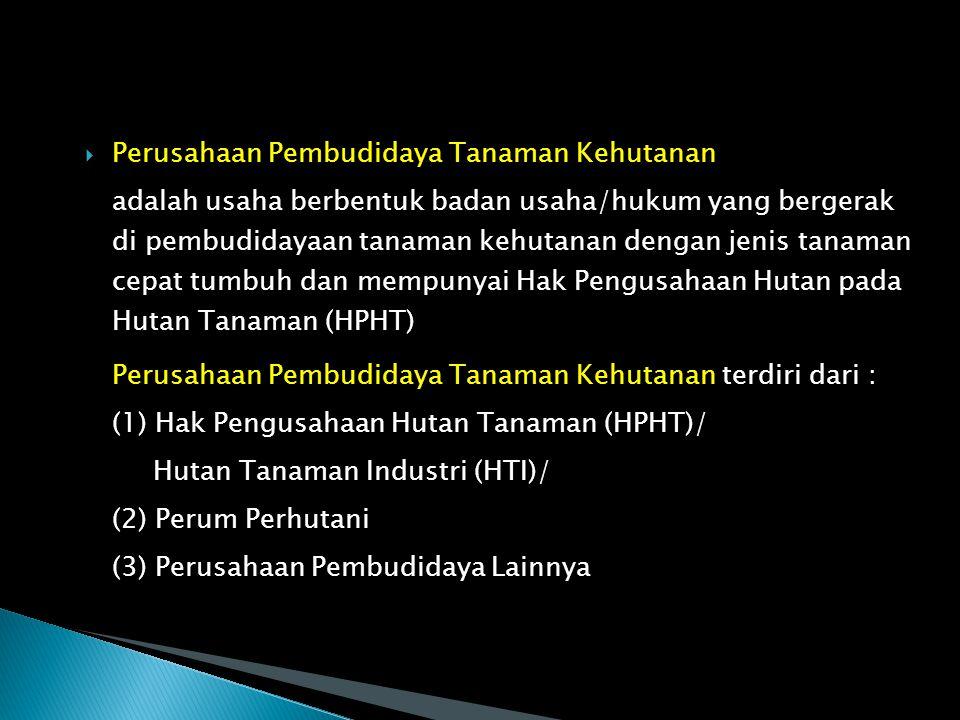  Perusahaan pemegang Ijin Usaha Pemanfaatan Hasil Hutan Kayu pada Hutan Alam (IUPHHK-HA )/ (HPH) adalah usaha berbentuk badan usaha/hukum yang bergerak di bidang pengambilan hasil hutan.