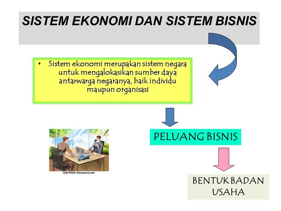 Sistem ekonomi merupakan sistem negara untuk mengalokasikan sumber daya antarwarga negaranya, baik individu maupun organisasi Sistem ekonomi merupakan