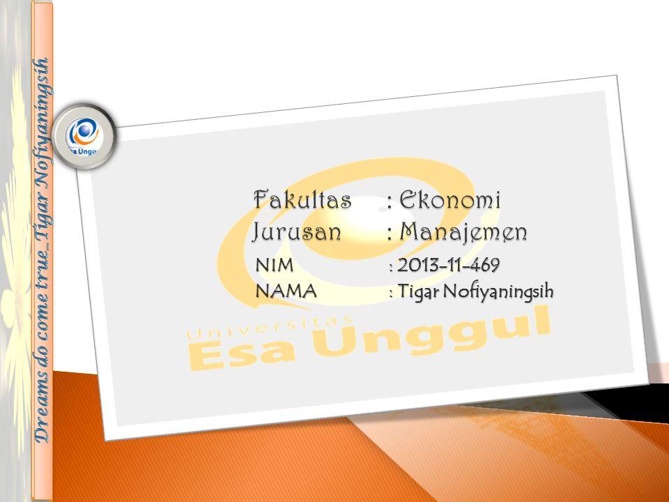 NIM: 2013-11-469 NAMA: Tigar Nofiyaningsih