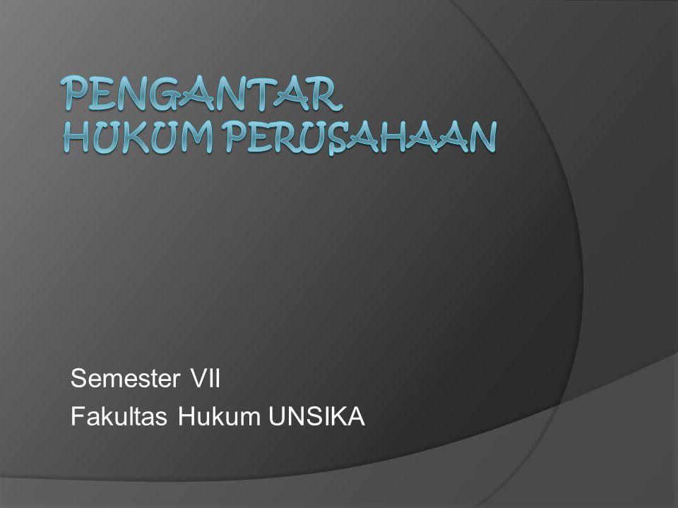 Semester VII Fakultas Hukum UNSIKA