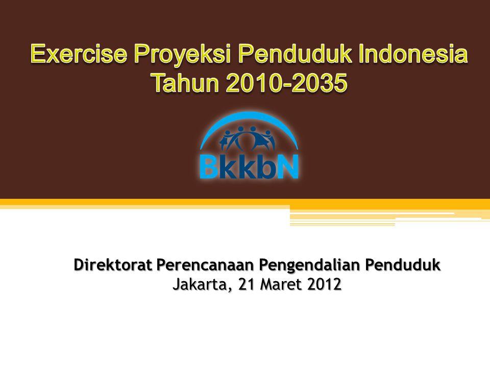 Direktorat Perencanaan Pengendalian Penduduk Jakarta, 21 Maret 2012