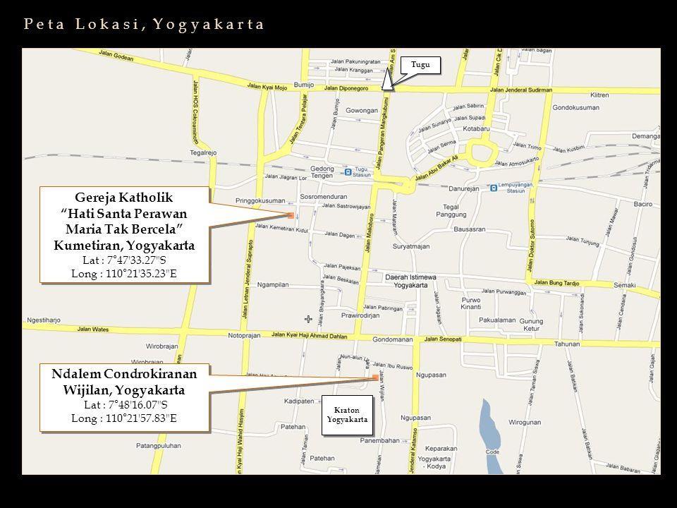 """Kraton Yogyakarta Kraton Yogyakarta Gereja Katholik """"Hati Santa Perawan Maria Tak Bercela"""" Kumetiran, Yogyakarta Lat : 7°47'33.27"""
