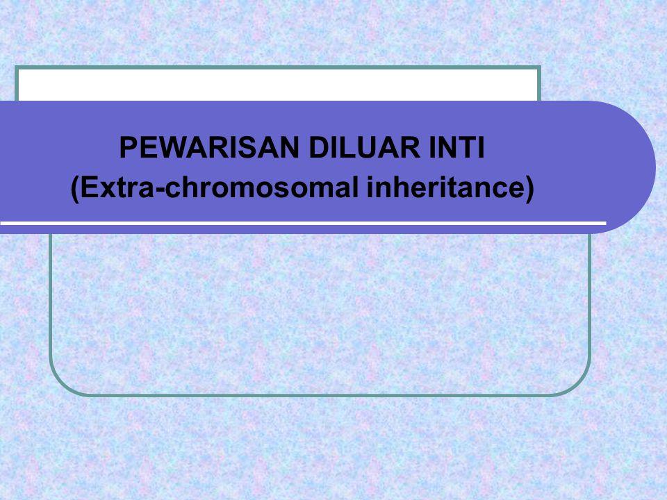 PEWARISAN DILUAR INTI (Extra-chromosomal inheritance)