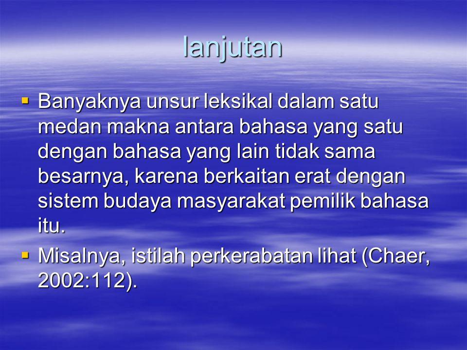 lanjutan  Dengan demikian, Anda bisa melihat perbedaan makna kata ayah dan bapak yang hakiki.