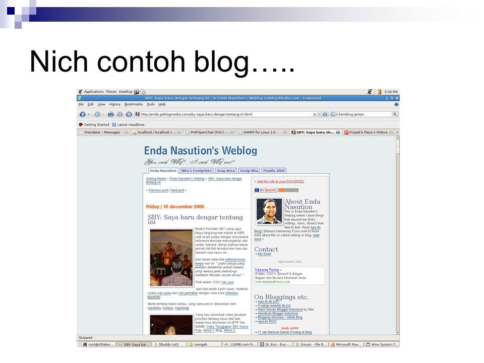 Nich contoh blog…..