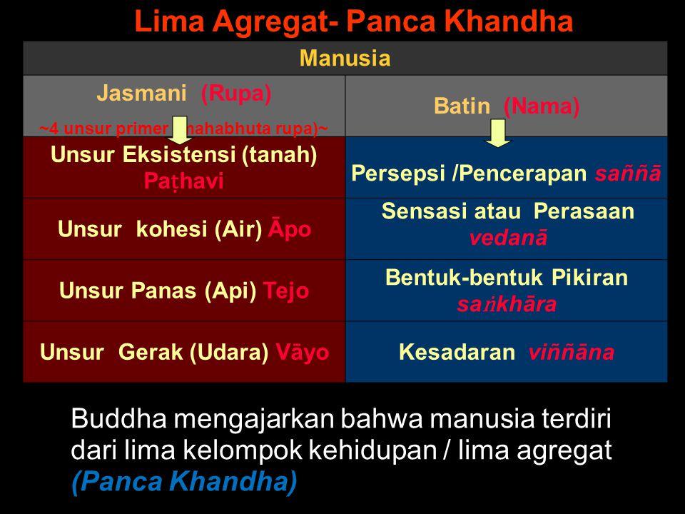 Ingat !!!!. Kerusakan/sakit adalah kurangnya koordinasi antara Nama dan Rūpa.