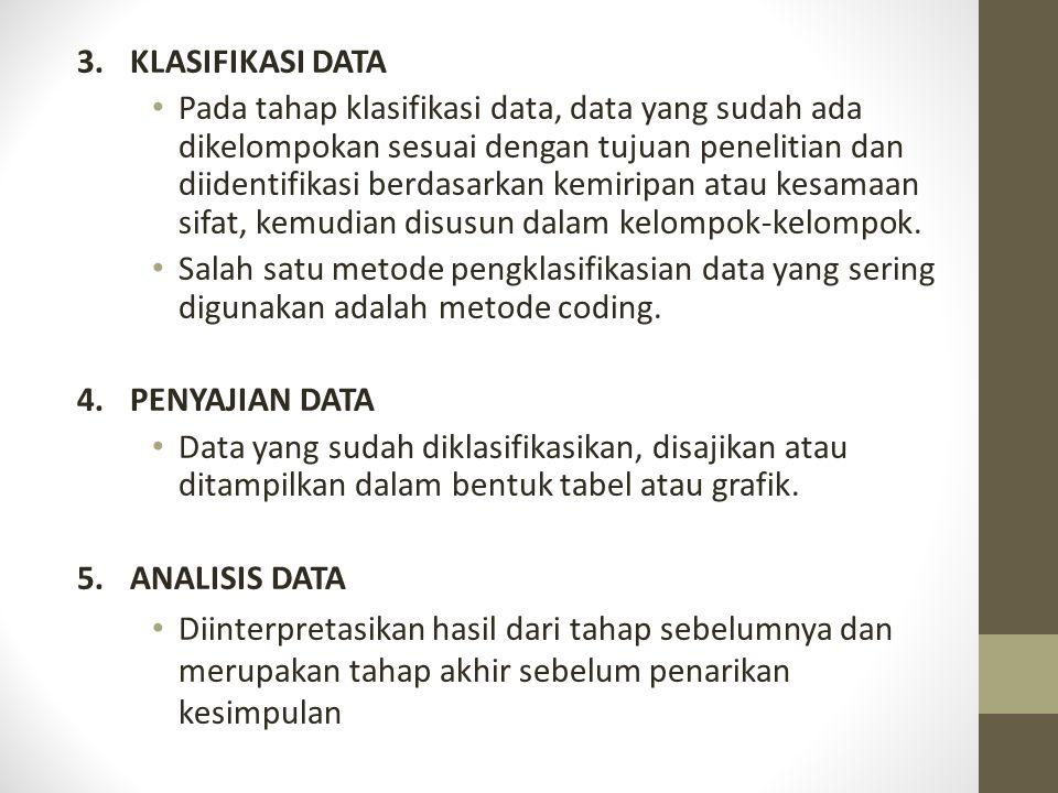 3.KLASIFIKASI DATA Pada tahap klasifikasi data, data yang sudah ada dikelompokan sesuai dengan tujuan penelitian dan diidentifikasi berdasarkan kemiri