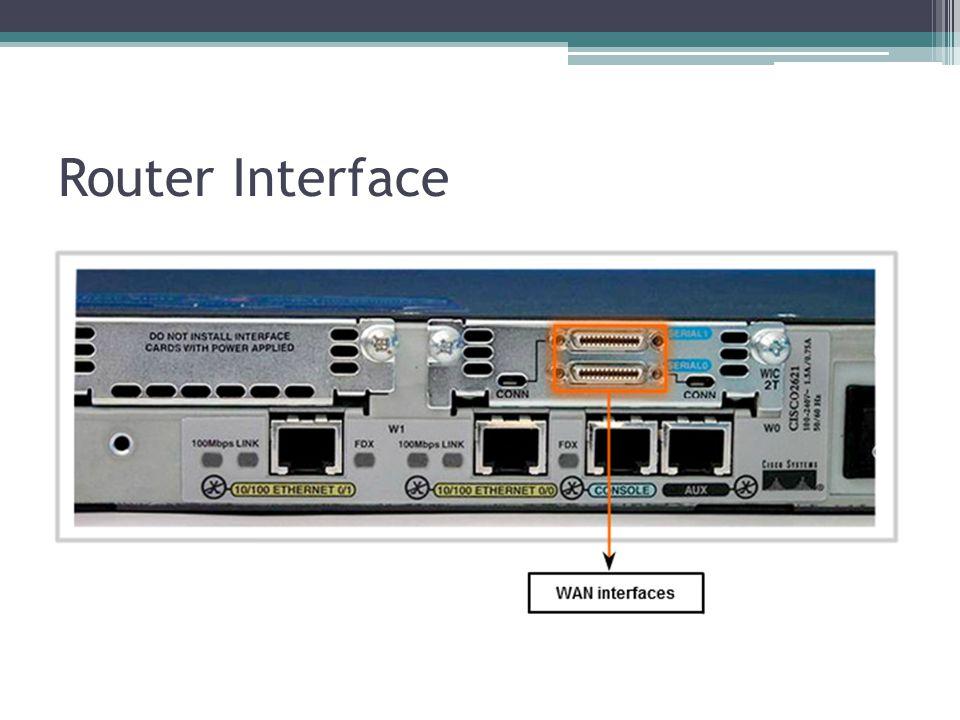 Interface to Deferents Network Setiap interface harus dikonfigurasi dengan alamat IP dan subnet mask jaringan yang berbeda.