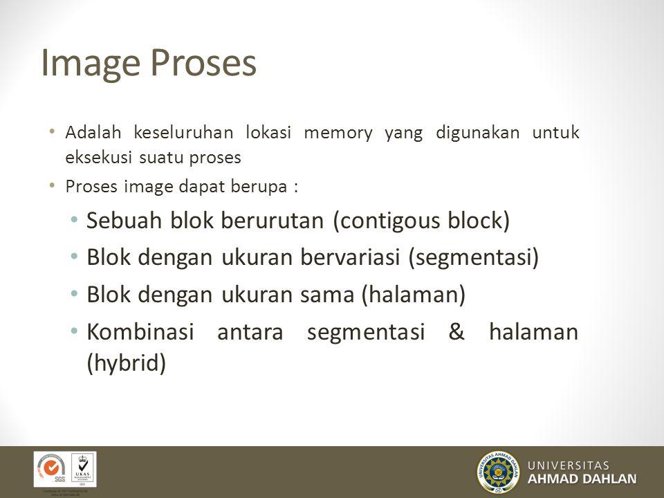 Keterangan gambar Tabel Memory Alokasi memory utama untuk proses-proses Alokasi memory maya untuk proses Atribut proteksi terhadap memory Informasi ya