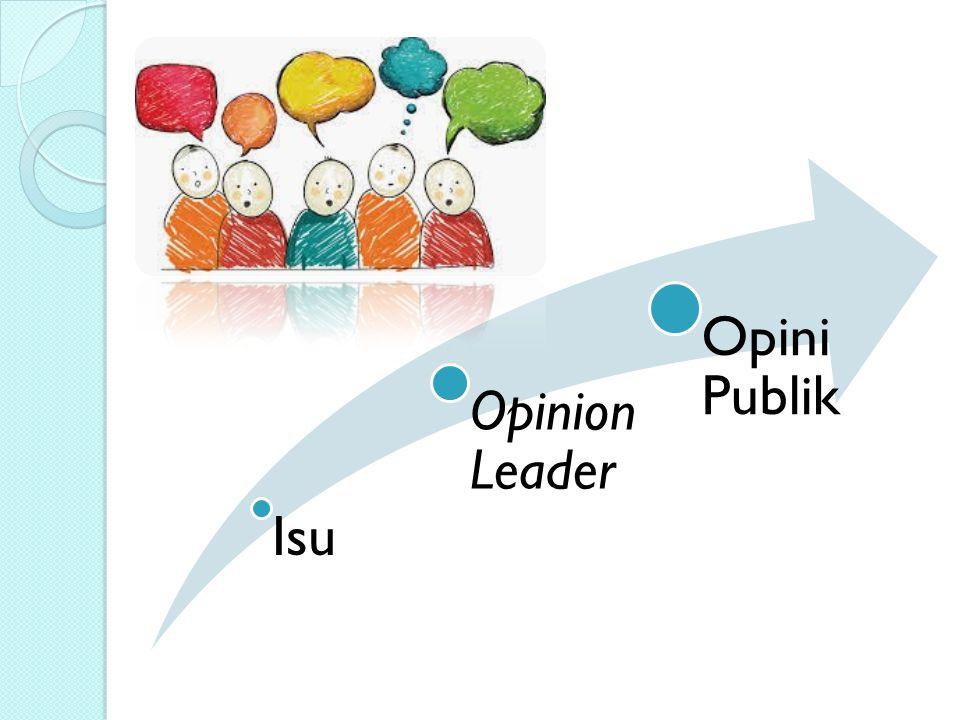 Isu Opinion Leader Opini Publik