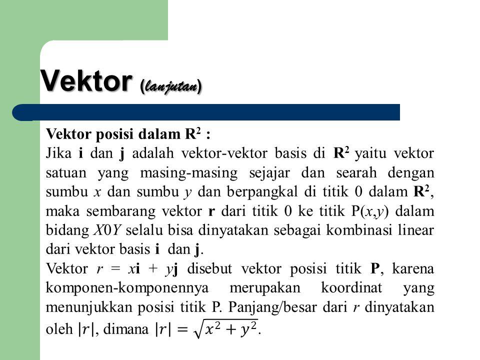 Vektor ( lanjutan )