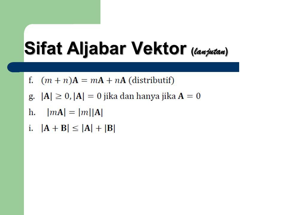 Sifat Aljabar Vektor ( lanjutan )