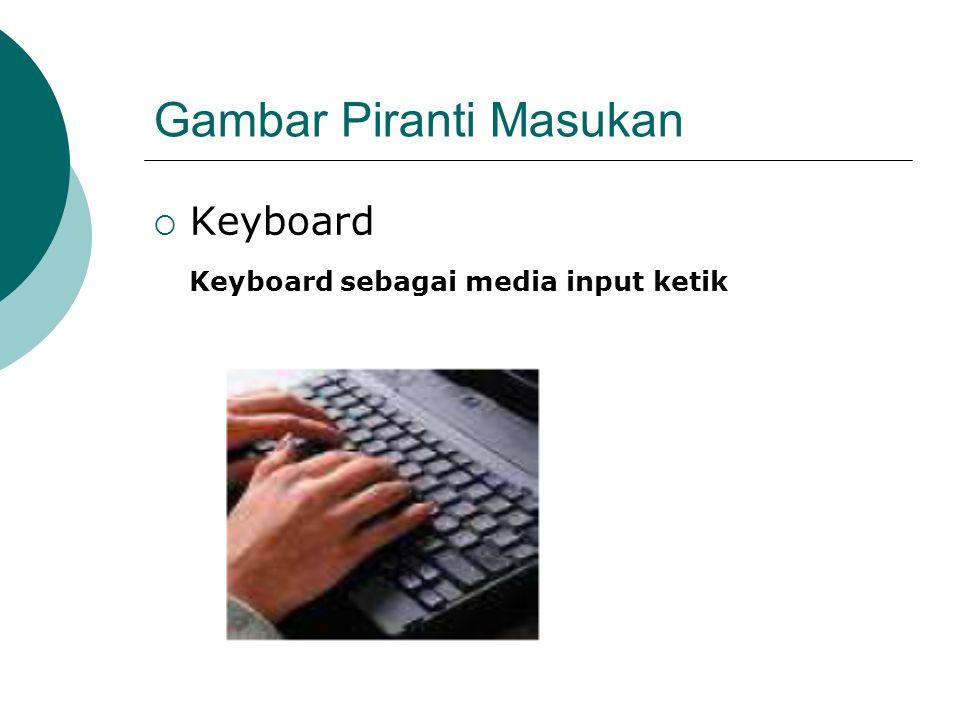 Gambar Piranti Masukan  Keyboard Keyboard sebagai media input ketik