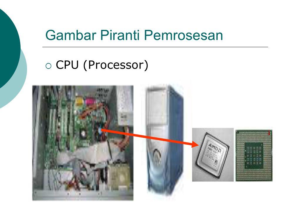 Gambar Piranti Pemrosesan  CPU (Processor)