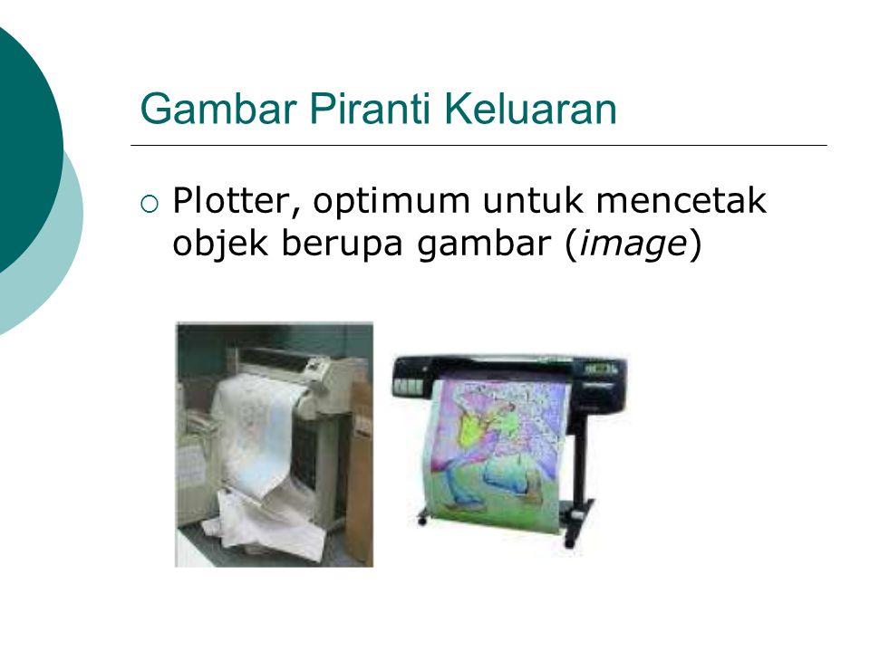 Gambar Piranti Keluaran  Plotter, optimum untuk mencetak objek berupa gambar (image)
