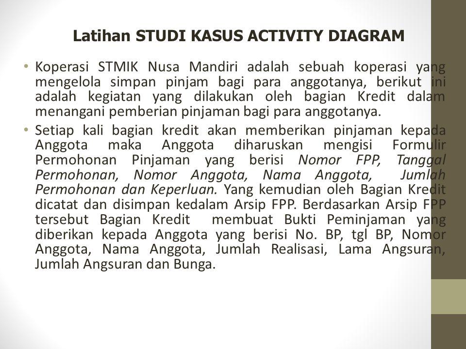 Koperasi STMIK Nusa Mandiri adalah sebuah koperasi yang mengelola simpan pinjam bagi para anggotanya, berikut ini adalah kegiatan yang dilakukan oleh