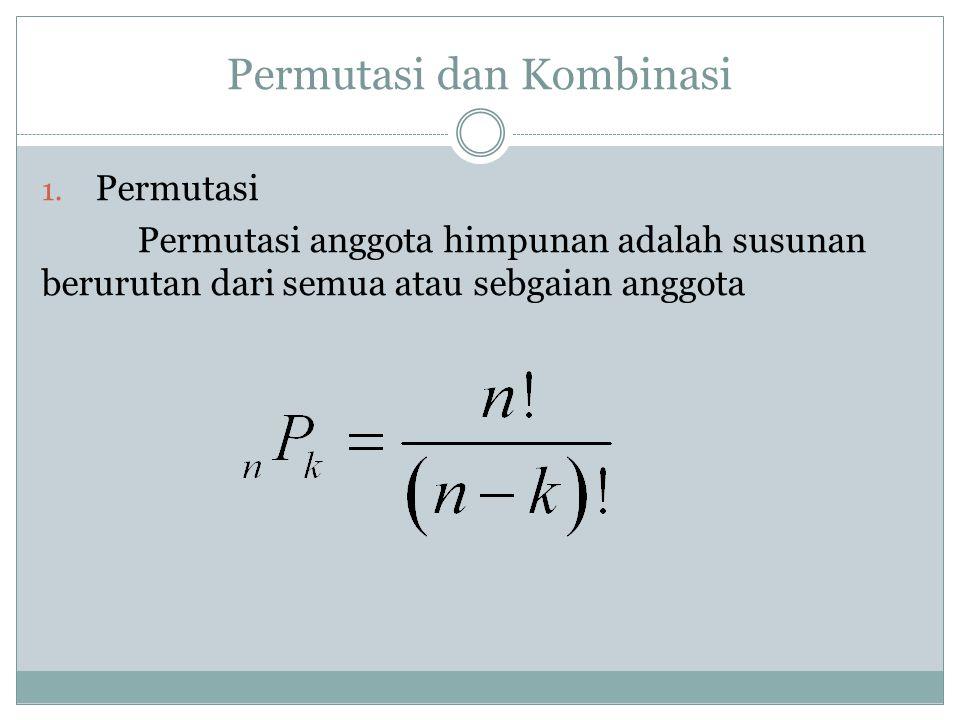 Permutasi dan Kombinasi 1.