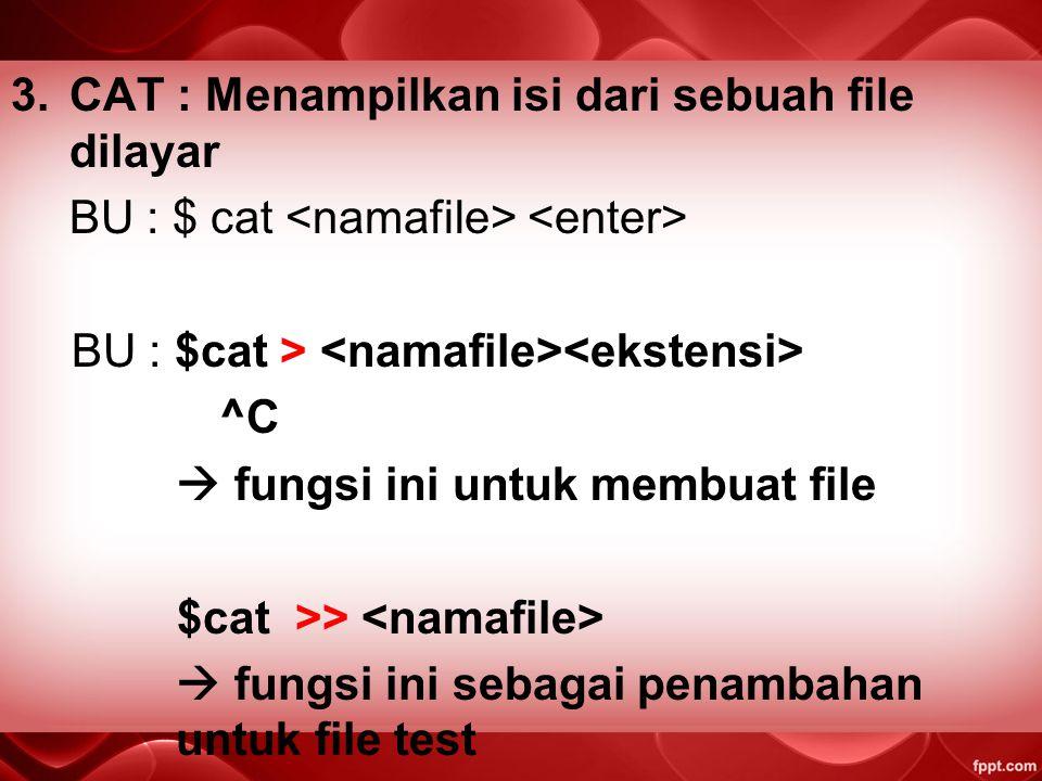 Perintah LINUX 1.Sudo so : untuk login sebagai root/ pengguna tertinggi 2.LS : Melihat isi file dari direktori aktif. BU : $ ls drwxrw- -rw- - nama pe