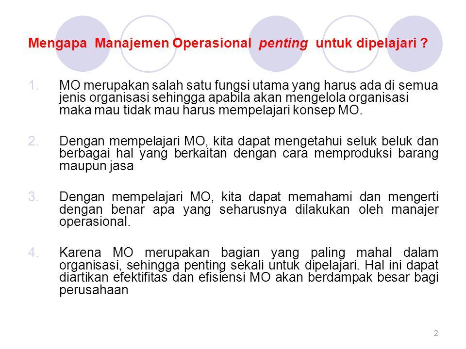 Apa saja yang dilakukan oleh Manajer Operasional dan Lingkup Tanggung Jawabnya .