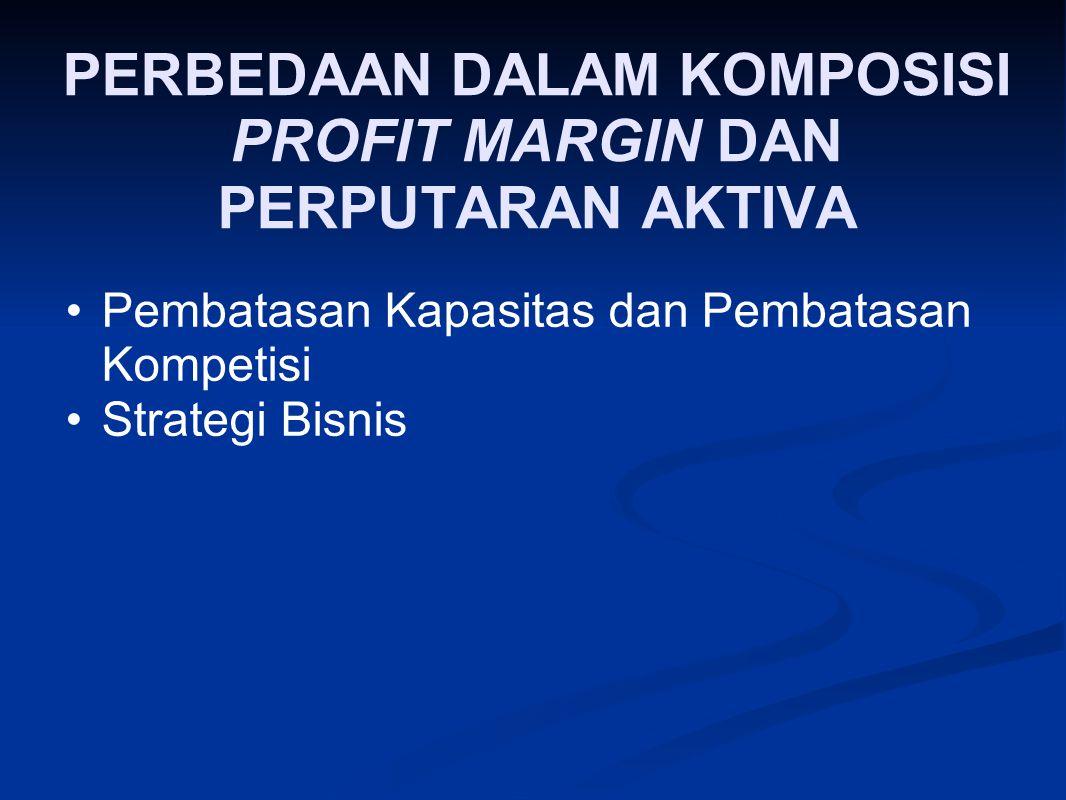 PERBEDAAN DALAM KOMPOSISI PROFIT MARGIN DAN PERPUTARAN AKTIVA Pembatasan Kapasitas dan Pembatasan Kompetisi Strategi Bisnis