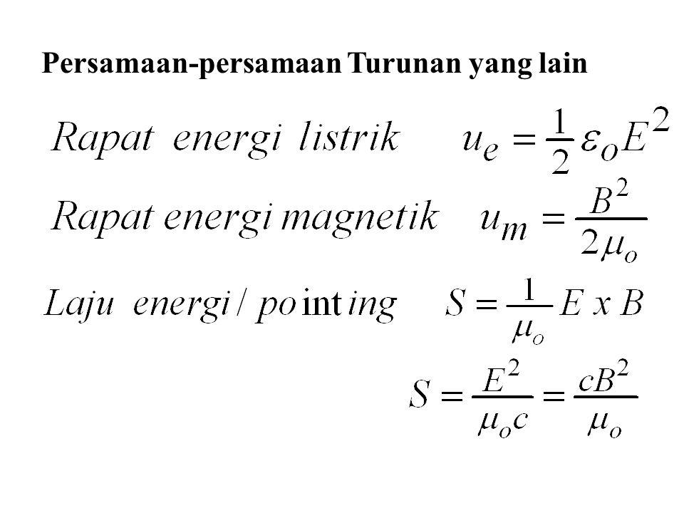 Persamaan-persamaan Turunan yang lain