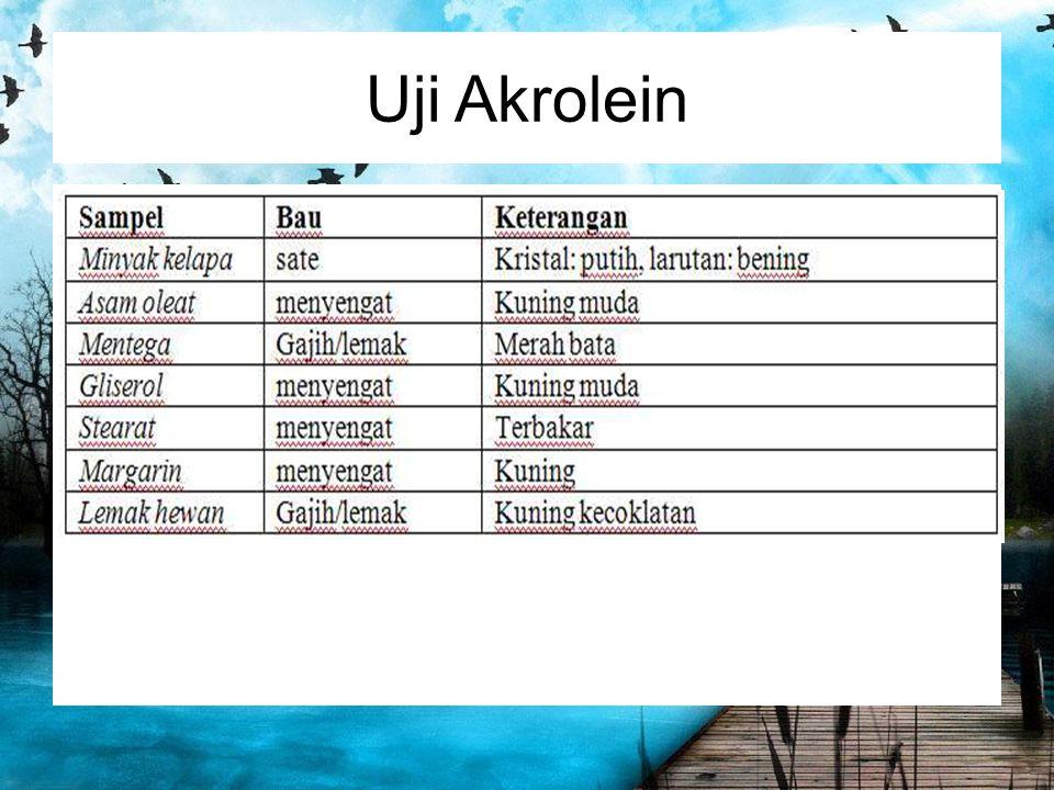 Uji Akrolein