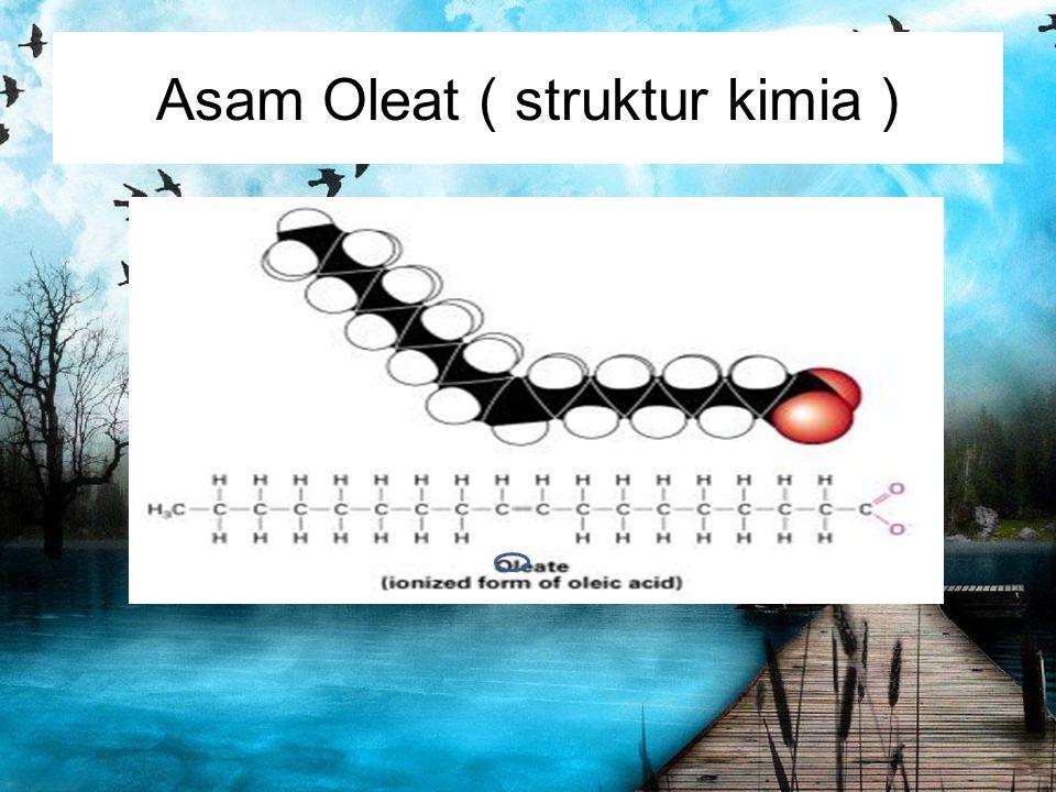 Asam Oleat ( struktur kimia )