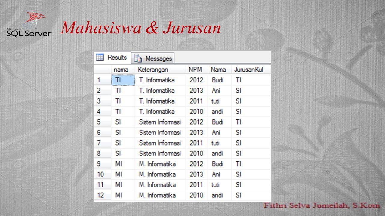 Mahasiswa & Jurusan